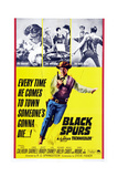 Black Spurs, Rory Calhoun, (Center), 1965 Posters