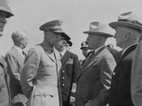 President Harry Truman and General Dwight Eisenhower Enroute to the Potsdam Conference Photo