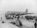 President Harry Truman's Airplane before Taking Off for Independence, Missouri Photo