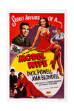Model Wife, Top from Left: Dick Powell, Joan Blondell, 1941 Prints