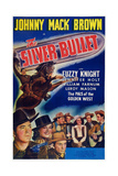 The Silver Bullet, First, Second, Third Left: Johnny Mack Brown, Jennier Holt, Fuzzy Knight, 1942 Art