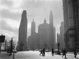 Mid-Century Chicago, Looking Down Michigan Avenue, 1951 Photo
