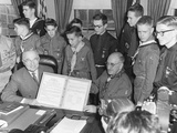 President Harry Truman Receives a 'Report to the Nation' from a Group of Boy Scouts Prints