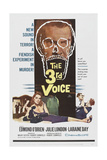 The 3rd Voice, Top: Edmond O'Brien, Bottom: Julie London, Edmond O'Brien, Laraine Day, 1960 Poster
