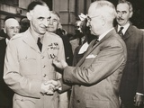 General Lucius Clay after Receiving the Oak Leaf Cluster Medal from President Harry Truman Photo