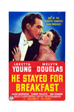 He Stayed for Breakfast, from Left: Melvyn Douglas, Loretta Young, 1940 Poster