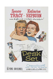 Desk Set, from Left: Spencer Tracy, Katharine Hepburn, 1957 Print