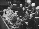 Herman Goering, Rudolf Hess, Joachim Von Ribbentrop, and Wilhelm Keitel in the Dock at Nuremberg Poster