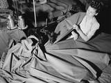 A Young Woman Sews 'Pup' Tents for the U.S. Army Posters