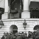 President Franklin Roosevelt at His Fourth Inauguration on Jan. 20, 1945 Print