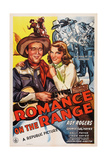 Romance on the Range, from Left: Roy Rogers, Sally Payne, 1942 Posters