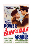 A Yank in the R.A.F., L-R: Betty Grable, Tyrone Power, 1941 Affiches