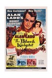 The Black Knight, Top: Alan Ladd, Patricia Medina, 1954 Print
