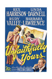 Unfaithfully Yours, Left: Linda Darnell, Bottom Right: Rex Harrison, 1948 Posters