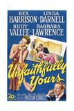 Unfaithfully Yours, Left: Linda Darnell, Bottom Right: Rex Harrison, 1948 Posters