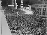 Huge Crowd Packed into Times Square, in a Premature Celebration of Japan's Surrender Posters