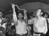 Men Handling Serpents at the Pentecostal Church of God Photo by Russell Lee