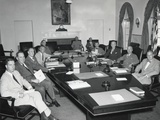 President Harry Truman with National Security Council, Aug. 19, 1948 Photo