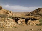 Reconstruction of House in Pre-Pottery Neolithic Village, 7200-6500, BC Photo