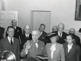 Vice-President Harry Truman Is Taking the Oath of Office, at 7:09 P.M. on April 12, 1945 Photo