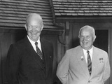 President Dwight Eisenhower and Soviet Premier Nikita Khrushchev, Sept 25, 1959 Photo