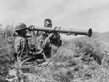 U.S. Soldiers Operate a New 3.5 Bazooka on the Front Lines Somewhere in Korea, 1950 Posters