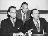 David Schine (Left), Roy Cohn, and Senator Joseph Mccarthy (Right) in 1953 Photo