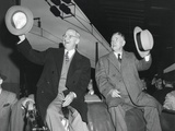 Victorious President Harry Truman and Vp-Elect Alben Barkley at Union Station Prints