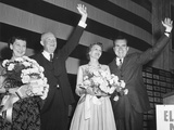 Newly Re-Elected President Dwight Eisenhower and VP Richard Nixon on Election Night Photo