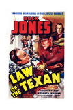 Law of the Texan, Front Right: Buck Jones; Back Right: Dorothy Fay, 1938 Giclee Print