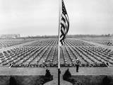 A Bugler Plays Taps on Memorial Day at Margraten Cemetery, Holland, May 30, 1945 Photo