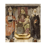 Madonna with Child, St. Augustine and St. Catherine from Siena Prints by Matteo della Chiesa