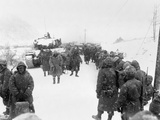 First Marine Division Takes to the Road on Withdrawal from Koto-Ri, South of the Chosin Reservoir Posters
