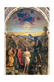 Baptism of Christ by John Plakater af Giovanni Bellini