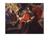 St. John on Patmos Having Vision of Madonna and Child Prints