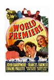 World Premiere, Bottom L-R: Virignia Dale, John Barrymore, Frances Farmer, 1941 Prints