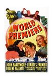 World Premiere, Bottom L-R: Virignia Dale, John Barrymore, Frances Farmer, 1941 Prints