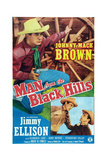 Man from the Black Hills, Top: Johnny Mack Brown; Bottom Left: James Ellison, 1952 Poster