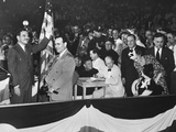 Thomas Dewey, Waving before the Republican National Convention in the Chicago Stadium Photo