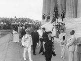 Eleanor Roosevelt at the 38th Annual Conference of the NAACP at Lincoln Memorial Photo