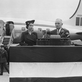 President Harry Truman Welcomes Princess Elizabeth at Washington's National Airport, Oct. 31, 195l Photo