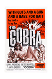The Cobra, Dana Andrews, Anita Ekberg (Center), 1968 Poster
