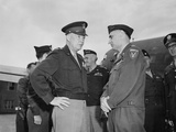 Generals Dwight Eisenhower and Lucius Clay at Gatow Airport in Berlin Posters