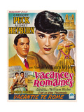 Roman Holiday, from Left, Gregory Peck, Audrey Hepburn, 1953 Art