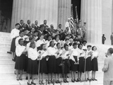 African-American Choir Performing at the 38th NAACP Conference at the Lincoln Memorial Posters