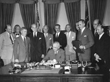 President Harry Truman Signs the North Atlantic Pact on Aug. 24, 1949 Poster