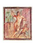 Ancient Roman Fresco, C., Casa Di Meleagro, Peristilium Prints