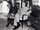 President Franklin Roosevelt Photographed with French General Henri Honore Giraud, Jan. 1943 Photo