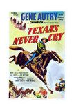 Texans Never Cry, Gene Autry with Champion the Horse, 1951 Art
