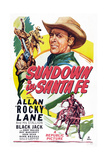 Sundown in Santa Fe, Allan Lane, 1948 Poster